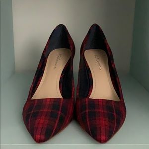 Plaid Pointed Heels